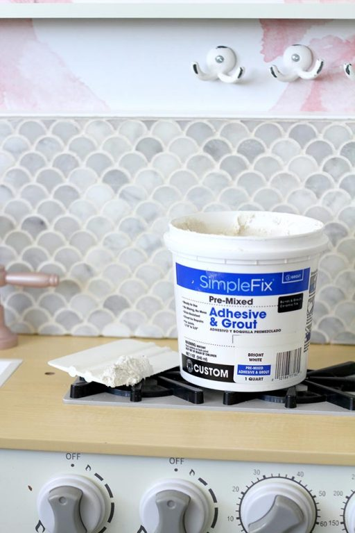 Lolly Jane uses Simple Fix Adhesive & Grout for their leftover tile project.