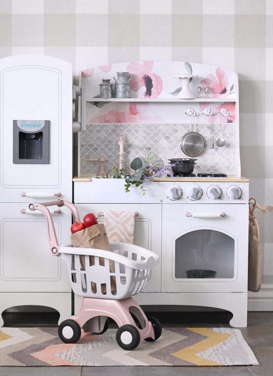 Leftover tile project: DIY Play Kitchen by Lolly Jane