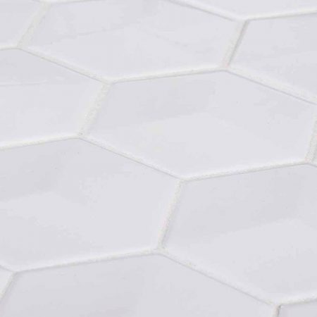 Geohex Mosaic Jeffrey Court - 8 x 10 white ceramic tile