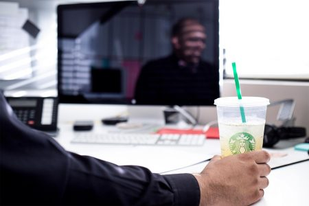 A productive day begins with Starbucks—A good jumpstart to the workday before emailing suppliers and delivering final specs.