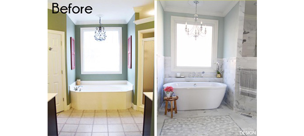 Before and After Master Ensuite